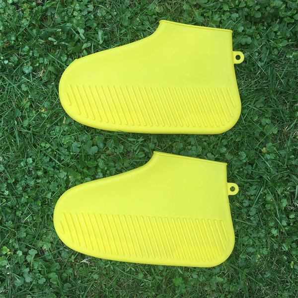 Erkekler Kadınlar Ayak Giyim Ayakkabı Kapağı Giymek Dayanıklı Koruyucu Açık Silikon Kalın Sole Kullanımlık Kaymaz Aksesuarları Elastik 2 ADET