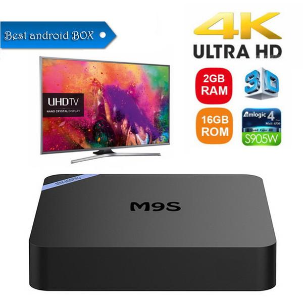 M9S PRO 4K Android 7.1 TV Box 4K UHD Media Player Amlogic S905W Quad-core ARM Cortex-A53 CPU media players 1GB 8GB 2GB 16GB 2.4G WiFI