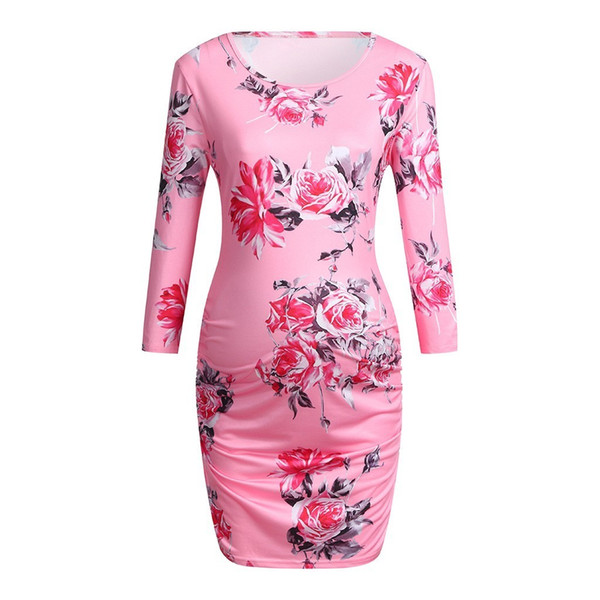2019 Nursing Dress Women Elegant Long Sleeve Flower Breastfeeding Dress For  Feeding Maternity Pregnancy Clothes Plus Size 19jan30 From Lin_02, $40.31  ...