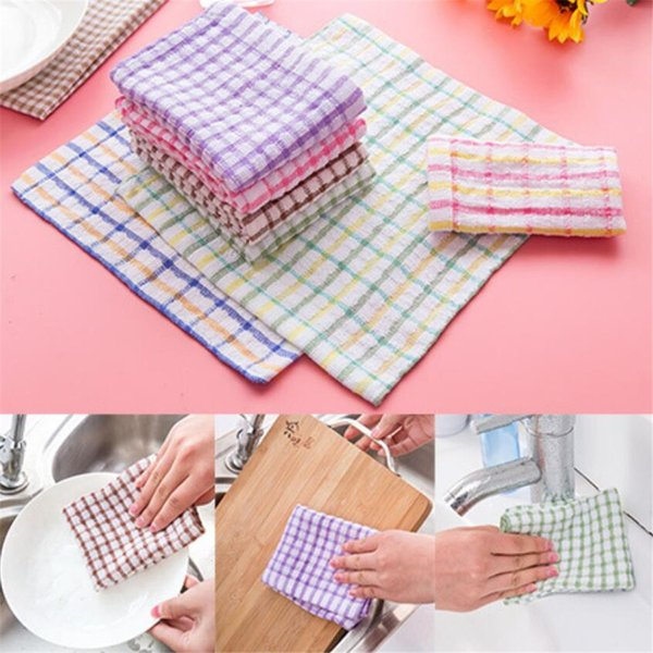 Cotton Special scouring cloth environmentally-friendly super absorbent kitchen dish towel restaurant rag square cleaning cloth