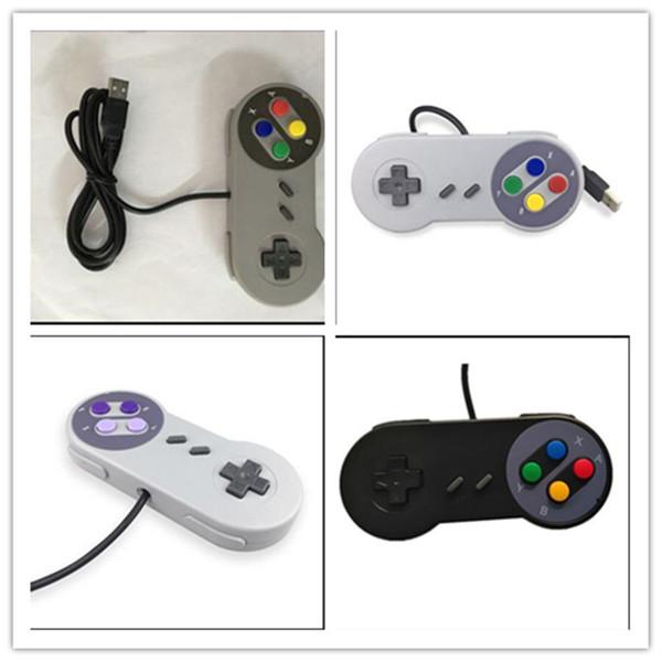 Jeu de 10 clés Jeu 16 bits Manette de commande pour manette de jeu pour manette de jeu SFC Super Nintendo SNES Console de commande pour console de jeu Contrôleurs de jeu DHL Gratuit