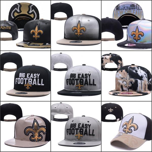 2019 New Orleans Ayarlanabilir Şapka Saints Nakış Takımı Logosu Snapback Tüm Takım Wholeasle Örgü Kasketleri Bir Boyut Caps