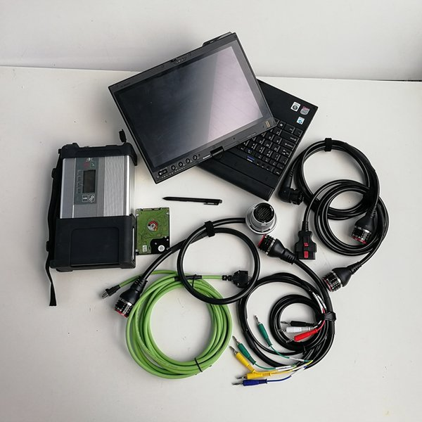 Super MB Star C5 SD C5 with V09.2019 Soft-ware HDD installed well on used laptop tablet X200t Auto Repair Star Diagnosis tool