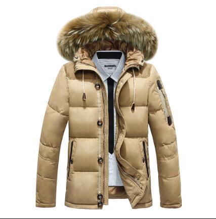 Winter Big Genuine Fur Hood Duck Down Jackets Men Warm High Quality Down Coats Male Casual Winter Outerwer Down Parkas SIZE:M-XXXL