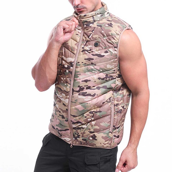 men women flexible sleeveless hiking outdoor sports usb charging washable electric heating vest temperature control pain relief, Gray;blue