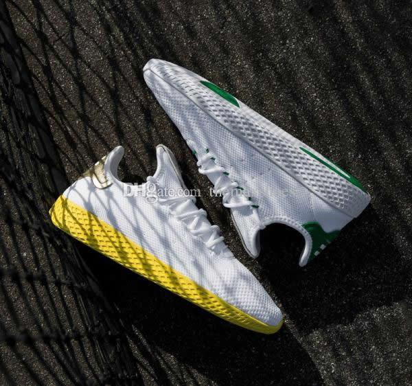 Chegam novas Pharrell Williams X Stan Smith HU Primeknit Homens Sapatos de Tênis Mulheres Sneaker Calçados Esportivos Respirável EUR 36-45