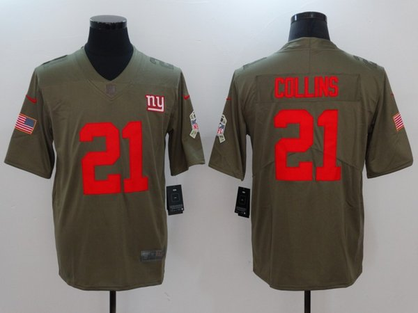 d364ec110 2019 Mens 21 Landon Collins New York Giants Football Jersey 100% Stitched  Embroidery Giants Landon. Sold Out