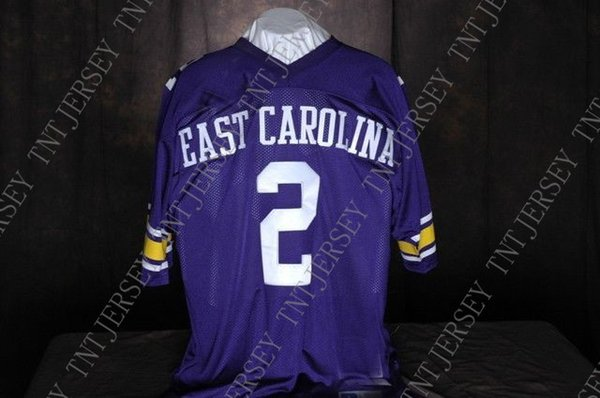 Cheap custom jeff blake east carolinapirates #2 college football jersey Customized Any name number Stitched Jersey XS-5XL