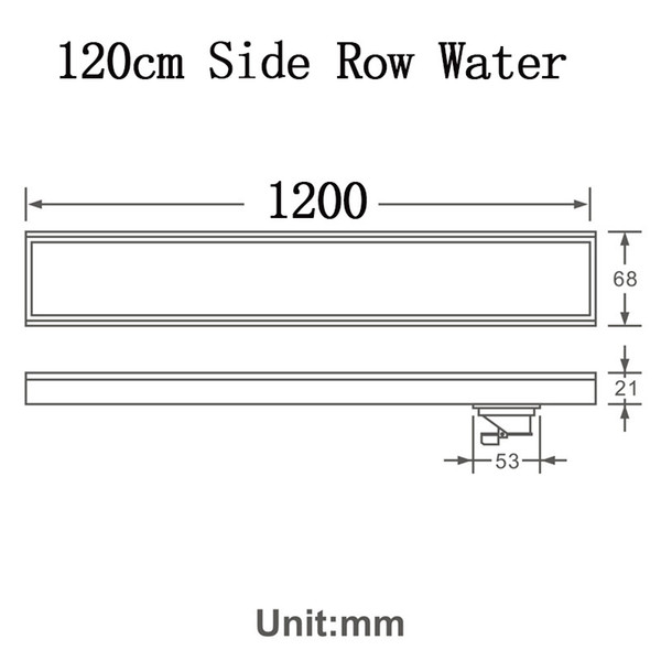 120cm Side Row Water