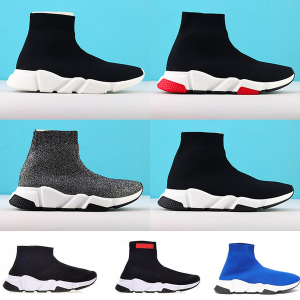 los angeles where to buy to buy Acheter Chaussures Balenciaga Shoes Luxury Speed Trainer Designer Marque  Chaussette Casual Chaussures Noir Rouge Triple Noir Chaussettes De Mode ...