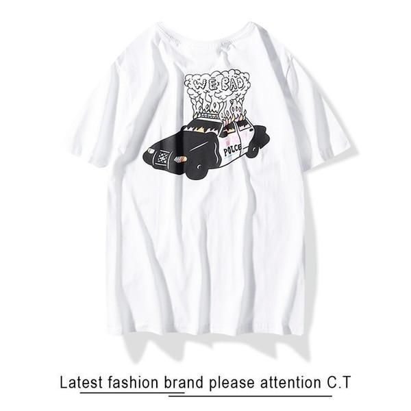 T-Shirts Designer Homme Fire Creative Prints Tissus de haute qualité T-Shirt Menc