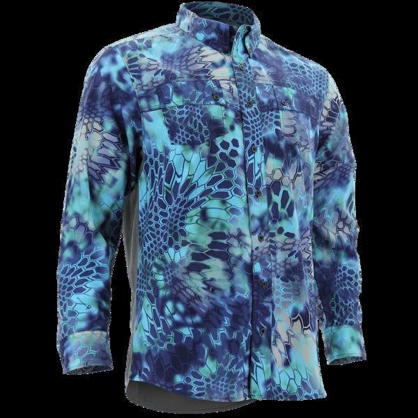 2018 H*k Men Fishing Shirt Long Sleeve Hiking Shirts Fast Dry UPF30 UV Breathable Outdoor Fishing Clothing Men Plus Size S-2XL