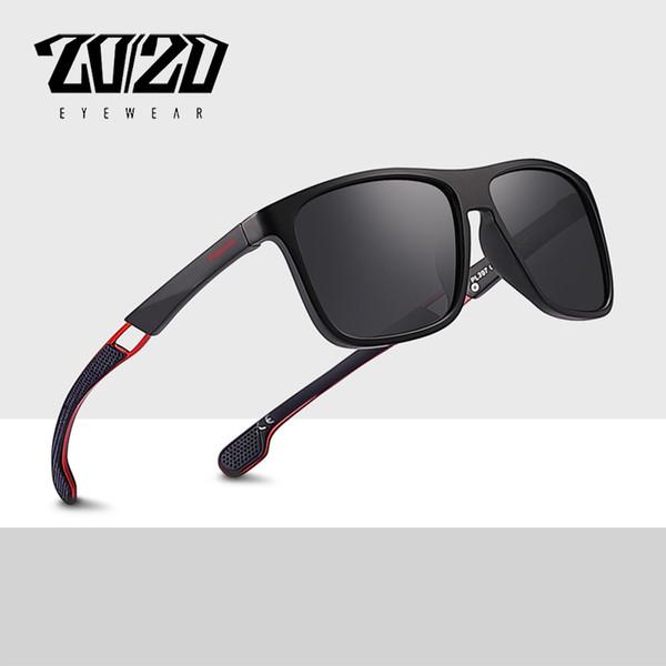 20/20 Brand New Classic Polarized Sunglasses Men Driving Gafas Square Metal Frame Eyewear Male Sun Glasses for men Oculos