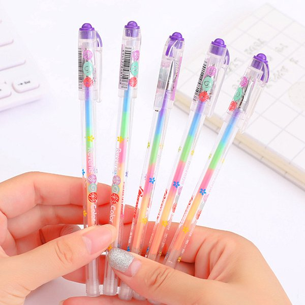Color Change Pen Black Paper Fluorescent Paint Pens Pencils Writing Markers Highlighters Office School Supplies Ink 6 Colors