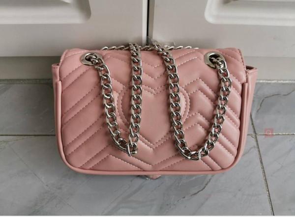 / Cadena de plata de color rosa