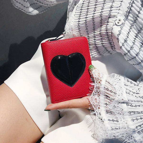 Superior2019 Woman Short Fund Personality Lovely Ma'am Peach Women's Wallet More Function