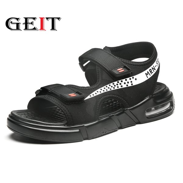 Fashion Man Beach Sandals 2019 Summer Gladiator Men's Outdoor Shoes Roman Men Casual Shoe Flip Flops Air Cushion Men Shoes