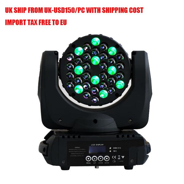 Remise navire de Royaume-Uni - Stage Light 36 * 3W 4in1 RGBW LED tête mobile de faisceau faisceau Wash Light American DJ Lights DMX INOUT éclairage DJ