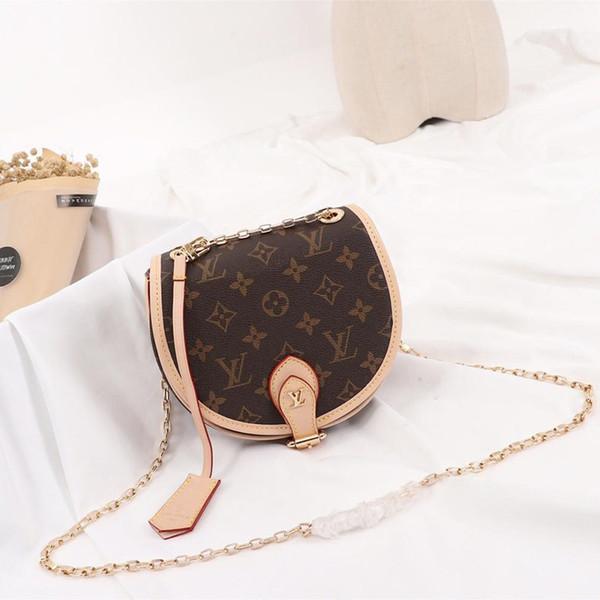 Luxus Echtes Leder Kette Tasche Mode Hufeisen Cross Body Taschen Denim Casual Frauen Umhängetasche für Geburtstagsgeschenk