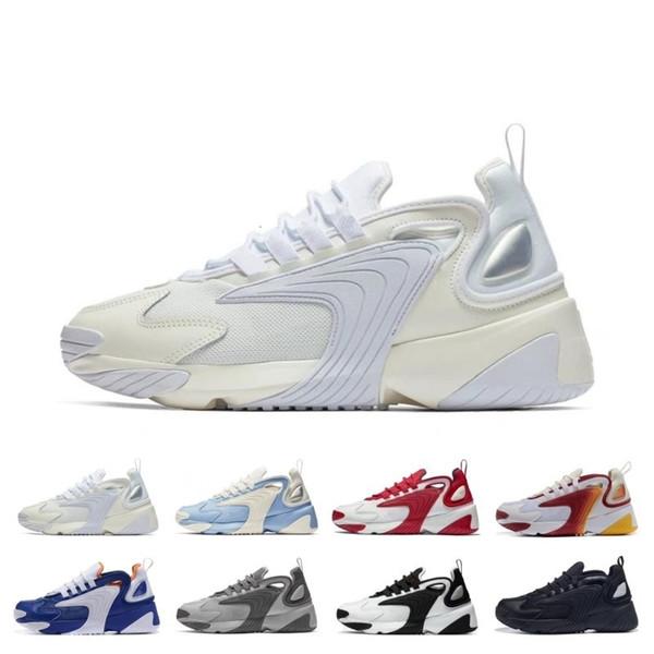 Vente chaude M2k Tekno Zoom 2K ZM 2000 Chaussures de course pour Hommes Femmes triple Noir Blanc Bleu Orange Mode Hommes Baskets Chaussures 36-45