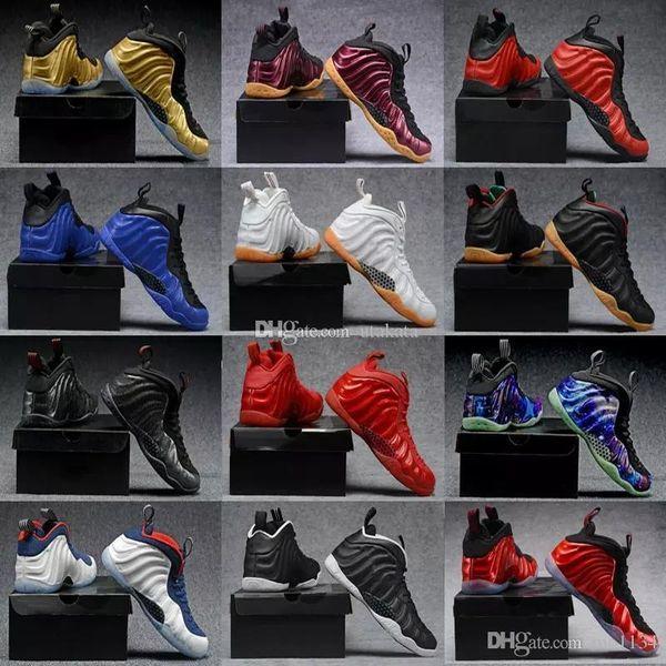 2019 Barato Melhor Tênis de Basquete Penny Hardaway Dos Esportes Dos Homens Sneakers Espuma De Uma Berinjela Roxo Mens Bola Cesta Sapatos de conforto e apoio