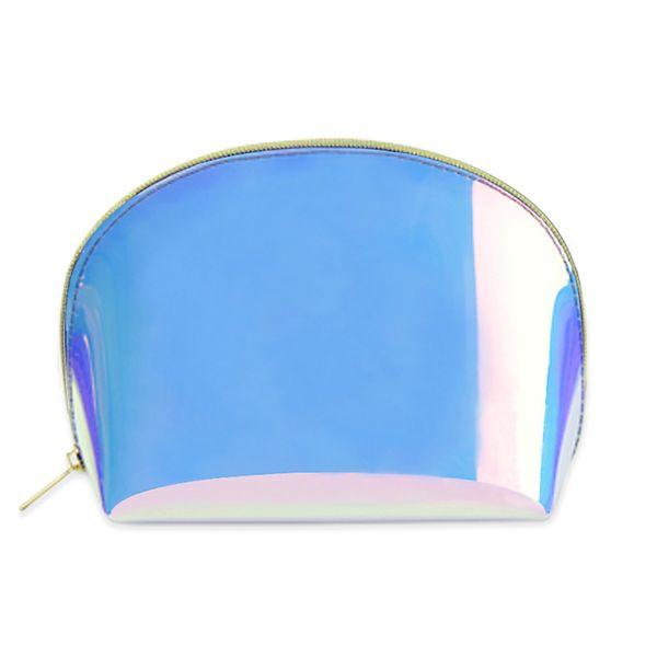 Fashion Holographic Makeup Case TPU Women Toiletry Transparent Cosmetic Bag Waterproof Portable Practical Zipper Travel