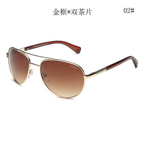 ЛЕТНИЕ мужские металлические очки Роскошные Взрослые Солнцезащитные Очки женские Марка Дизайнер модные Черные Очки вождения Солнцезащитные Очки бесплатная доставка 9634