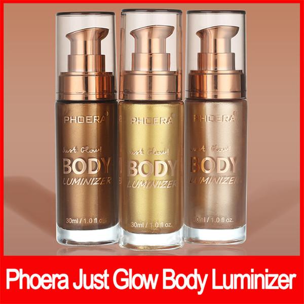 PHOERA maquiagem para rosto Apenas brilho Luminizador Corporal Bronzer Highlighter Liquid Setting Spray Brighten Glow Rose Gold Highlight Brighten 30ml
