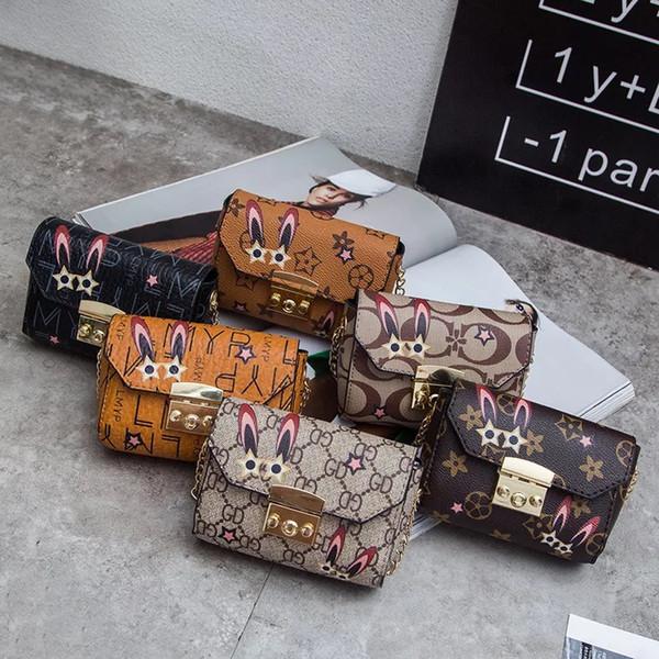 INS mignon sac à bandoulière mode sac à bandoulière parent-enfant rivet oblique lettre mignonne petit sac lapin impression petite bourse