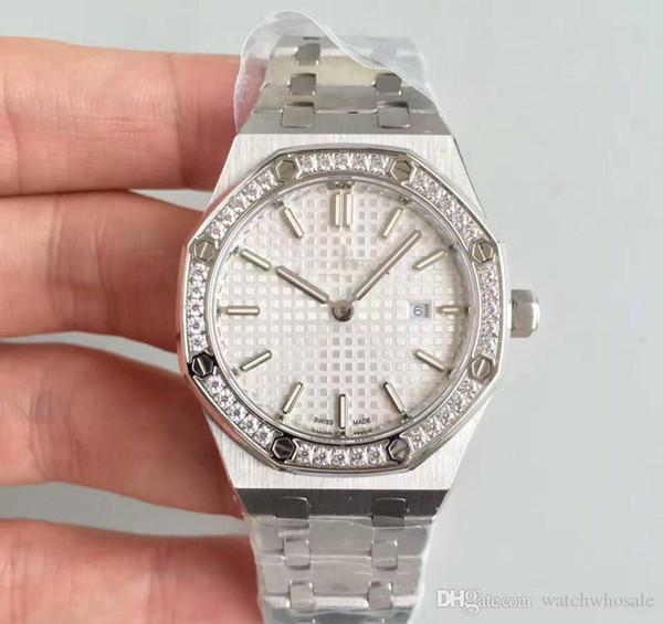 Роскошные часы для дам подарок 33 мм кварцевый механизм с бриллиантами кольцо из н