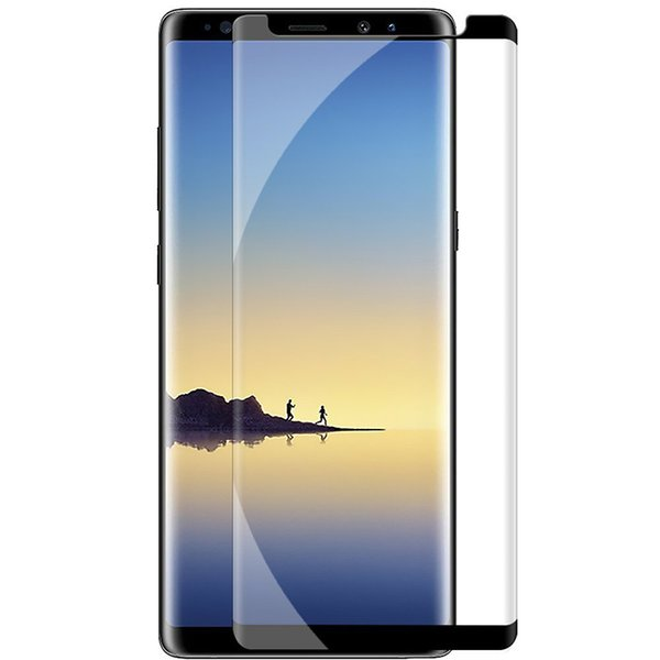 Edge Case Friendly 3d gebogenes gehärtetes Glas für Samsung Galaxy S9 Note 8 Note8 S8 Plus S7 Case Version Telefon Displayschutzfolie
