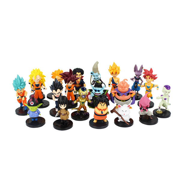 20 Styles Dragon Ball Z pvc Action Figures toys Crazy Party Dragonball DBZ PVC Figures collection Dolls Y190529