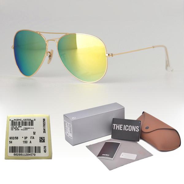 18 Colors Brand Designer Pilot Sunglasses for Men Women Metal frame uv400 gradient glass lens With free Retail Case and label
