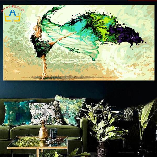 50 * 100 Grandes Números de Aceite Caligrafía Para Colorear Por Número Pintura de Acrílico Abstracta Ángel Decoración de Pared Dy01 J190707
