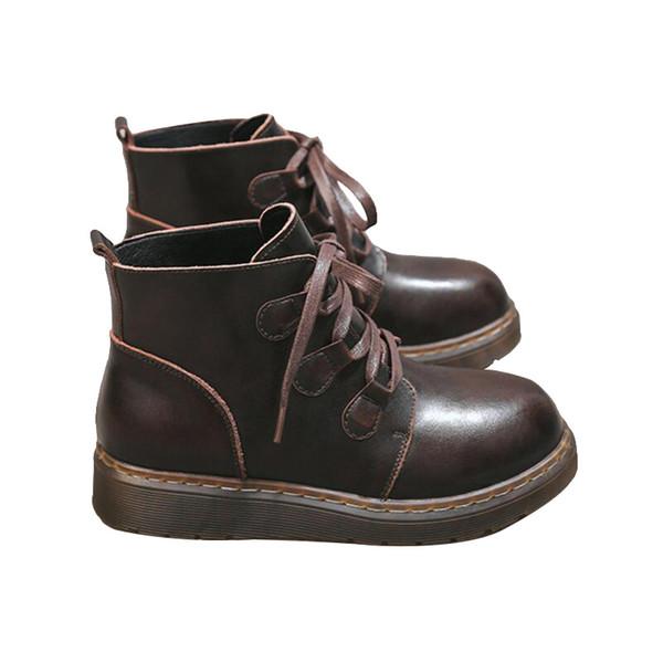 Top Quality 2019 stivali invernali Martin per le donne bianche scarpe di pelle marrone nera caviglia stivaletti Sneakers formato 36-40