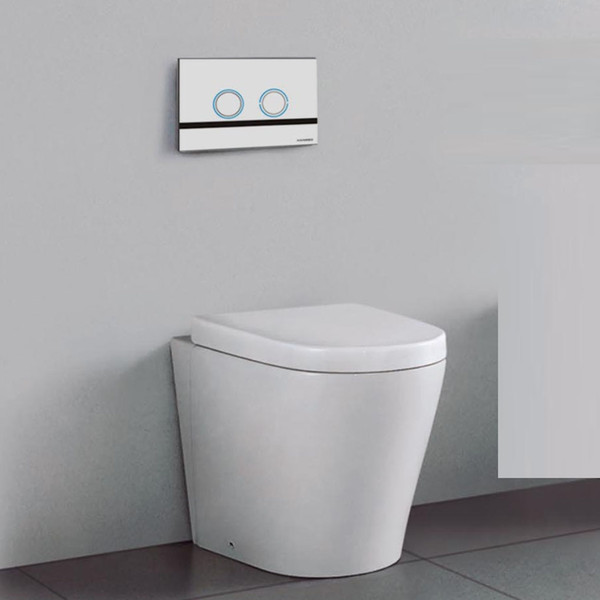 2019 Sensor Flush Wall Hang Toilet Set Wall Mounted Pan Penumatic Watermark Certificate Concealed Tank Dual Flush Button Concealed Cistern Toilet From