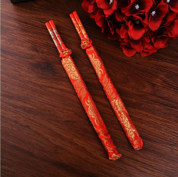 Wood Chinese chopsticks,printing both the Double Happiness and Dragon,Wedding chopsticks favor,wedding gift