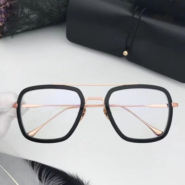 black rose gold with clear lens
