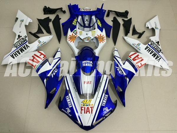 3 hochwertige Geschenkartikel Neue ABS-Motorradverkleidungen passen für YAMAHA YZF-R1 2004 2005 2006 R1 04 05 06 YZF1000-Verkleidungs-Kits Custom blau weiß 46