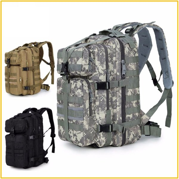 600D impermeabile militare tattico Assault Molle Pack 35L Sling Backpack Army Borsa zaino per escursioni all'aperto Caccia campeggio
