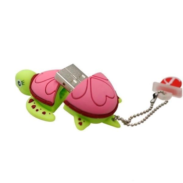 Pretty Nice products FOR PC CUTE USB Flash Drive cartoon Tortoise Turtle memory stick Sea turtle pen drive 16gb~64gb USB FLASH STICK