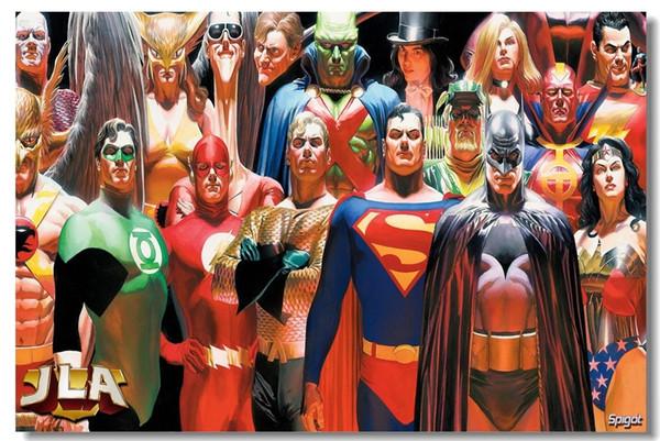 Justice League Kahraman Sanat İpek Poster 24x36 inç 24x43 inç