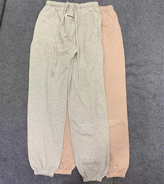 2019 new FEAR OF GOD FOG ESSENTIALS Double line new 3M reflective embroidery high street pants trousers S-XL