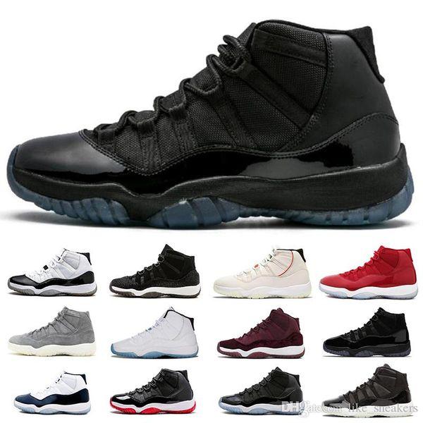 11 Scarpe da basket da uomo 11s Bred Concord Platinum Tint Space Jam Gamma Blue Sneakers firmate XI Uomo Donna Scarpe sportive