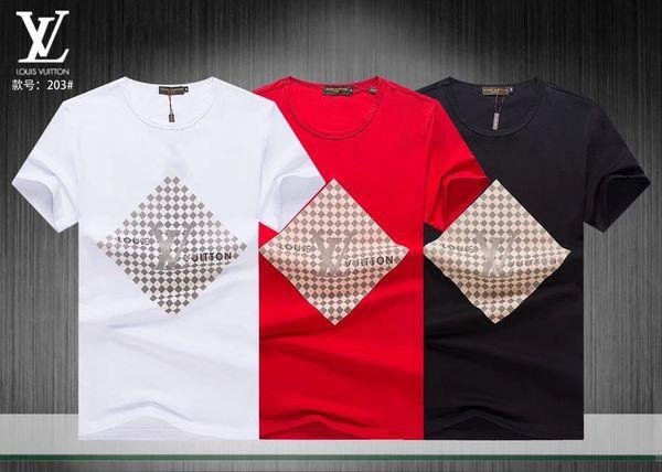 Новый летний мужской лучший досуг сплошной цвет футболки с круглым вырезом с короткими рукавами. Удобная дышащая ткань, клетчатый