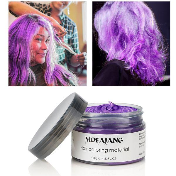 Mofajang Hair Wax Coloring 120g hair styling Mofajang Pomade Strong style restoring Pomade wax big skeleton slicked 8 colors Hair Cream