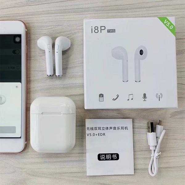 i8P TWS Wireless Bluetooth 5.0 Kopfhörer Stereokopfhörer Mini-Headset Pop-up-Fenster Windows Connect Für iOS Android-Telefon air pk i11 i12 i10 i18