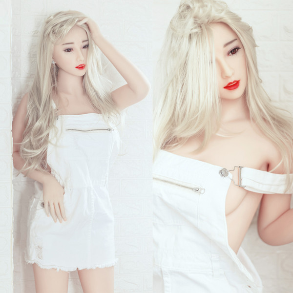 Top quality 158cm Japanese oral/anal real sex doll full body size good looking real solid silicone sex doll with metal skeleton