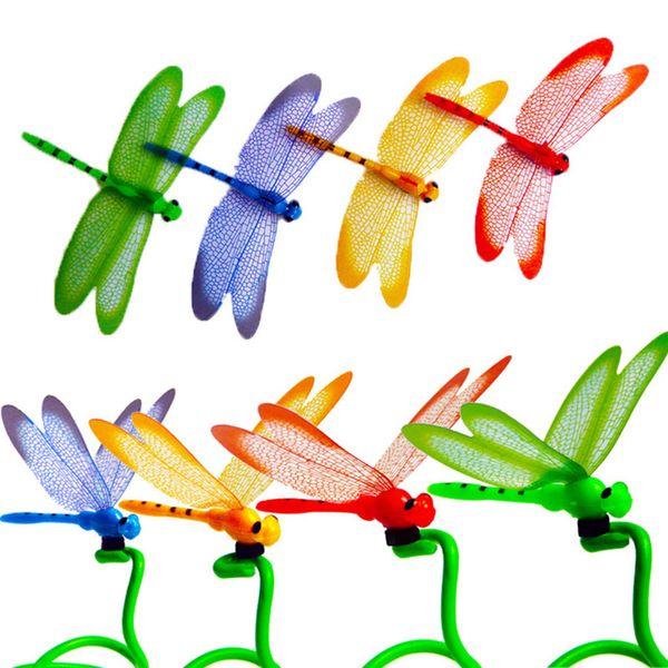 1pc 3D Dragonfly Şekli Buzdolabı dolabı Magnet Buzdolabı Sticker Ev Dekor Seti 1 manyetik 3D stereo 817 böcek yeni simüle