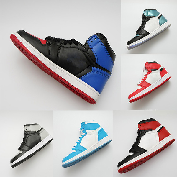 top popular NEW designer shoes 1 OG Shoes Mens Chicago 1S 6 MID New Love UNC Sneakers Bred Toe Trainers Sport Shoes WOMEN rings casual size 36-47 2021